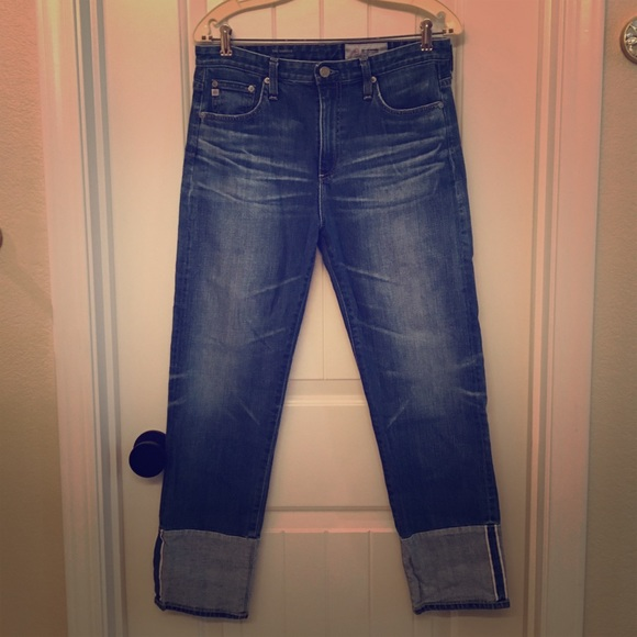 Ag Adriano Goldschmied Denim - AG The Isabelle Sz 30 High Rise Straight Crop Jean